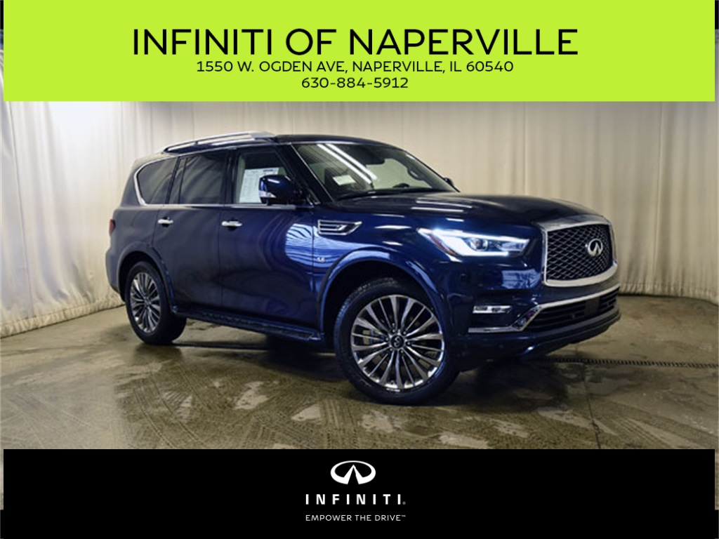 New 2019 Infiniti Qx80 Luxe 4wd Suv In Naperville X190443
